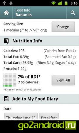 Calorie Counter - счетчик калорий для Android