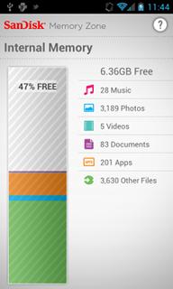 SanDisk Memory Zone для Android это приложение для управления и резервного копирования локальных устройств