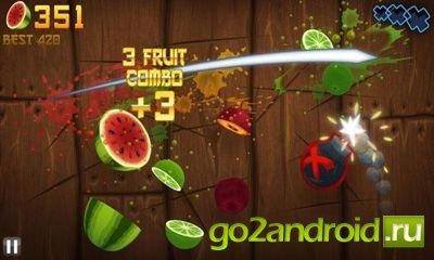 "Игра ""Fruit ninja"" для Android"