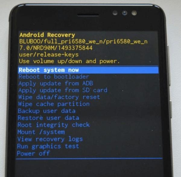 перезагрузка андроида