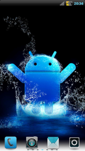 тема синий android