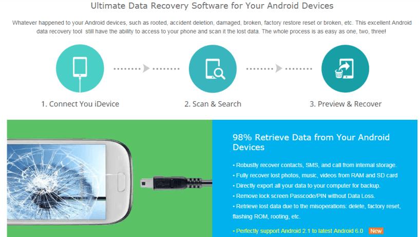 программа Mobiledic Android Data Recovery