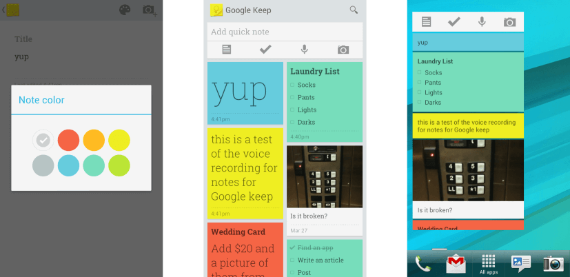 приложение Google-Keep для андроид